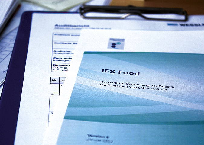 IFS Food Standard form for assessing the quality and safety of foods